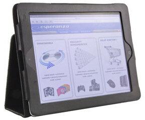 Maciņš / statīvs Esperanza iPad 2 un New iPad (iPad3) | Divas pozīcijas | Melns cena un informācija | Somas, maciņi | 220.lv