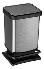 Atkritumu tvertne ar pedāli Rotho Paso, 20L, melnā (oglekļa) krāsā