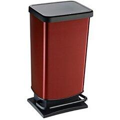 Atkritumu tvertne ar pedāli Rotho Paso, 40L, sarkanā krāsā