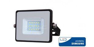 10W LED prožektorsV-TAC, 4000K (dabiski balta), melns korpuss, ar LED SAMSUNG diodi cena un informācija | Āra apgaismojums | 220.lv