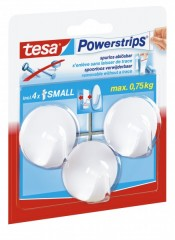 Āķi TESA PowerStrips Small Circle balti 3 gab.