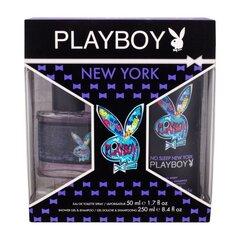 Komplekts Playboy New York: edt 50 ml + dušas želeja 250 ml cena un informācija | Smaržu komplekti | 220.lv