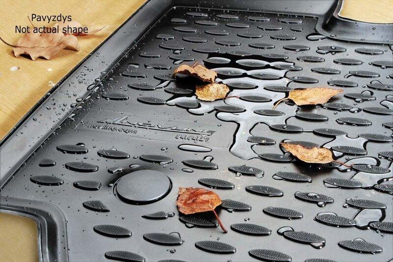 Guminiai kilimėliai 3D HONDA CR-V (su žemadažniu) 2007-2012, 4 pcs. /L28020G /gray