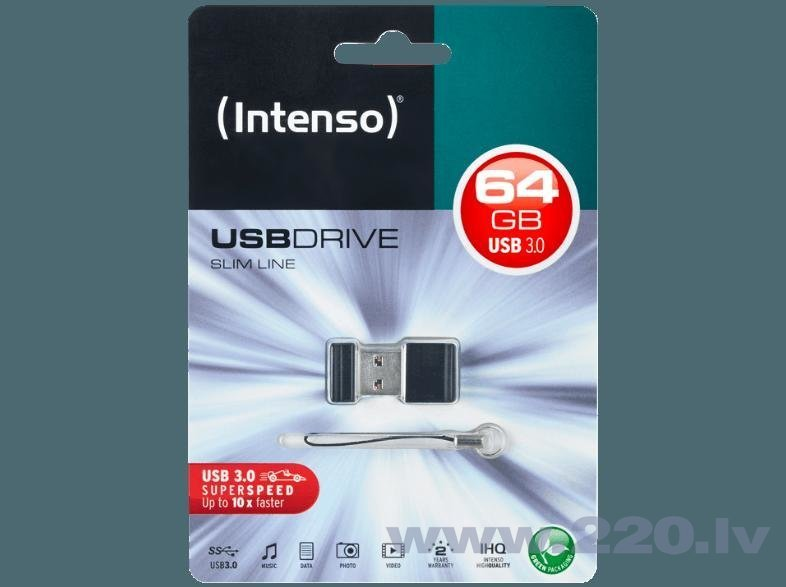 USB zibatmiņa Intenso 3534490, 64GB cena