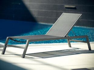 Sauļošanās gulta Patio Alu Spa, melns / pelēks cena un informācija | Sauļošanās krēsli | 220.lv