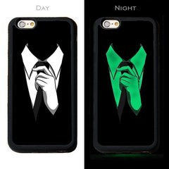 Telefona maciņš Mocco Fashion Case Glow in The Dark Tie, piemērots Apple iPhone 7 Plus / 8 Plus telefonam, melns