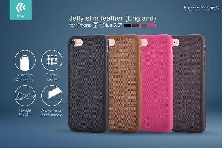 Aizsargmaciņš DEVIA Apple iPhone 7 Jelly Slim Case, Brūns