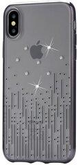 Aizsargvāciņš Devia BRA006292 piemērots Apple iPhone X, caurspīdīgs-melns