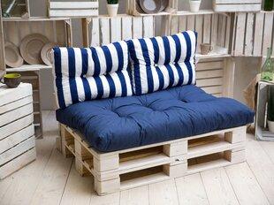 Подушка Patio Termi C009-01PB, белая/синяя цена и информация | Подушки для стульев | 220.lv