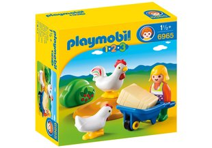 Конструктор 6965 PLAYMOBIL® 1.2.3, Farmer's Wife with Hens