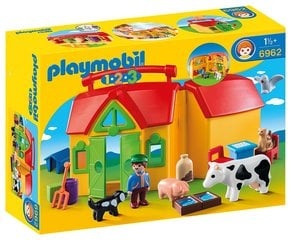 Конструктор 6962 PLAYMOBIL® 1.2.3, My Take Along Farm
