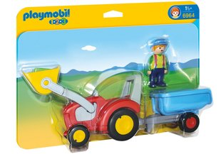 Конструктор 6964 PLAYMOBIL® 1.2.3, Tractor with Trailer