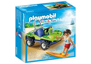 Конструктор 6982 PLAYMOBIL® Family Fun, сёрфингист и квадрацикл