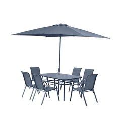 Комплект уличной мебели Cino2 Emiliano, тёмно серый