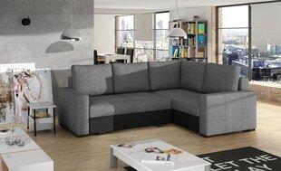 Mīksts stūra dīvāns Corona, pelēks / melns
