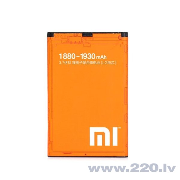 Xiaomi BM10 Original battery for Mi 1S (Mi1S) / Mi 2S (Mi2S) Li-Pol 1880mAh (OEM) internetā