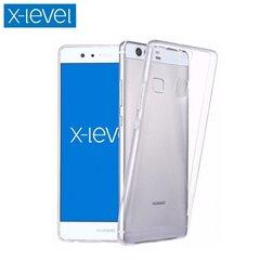 Aizsargvāciņš X-Level Antislip Ultra-Slim Cover (0.78 mm), piemērots Huawei Y6 (2017) telefonam, caurspīdīgs