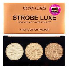 Палетка бронзатора- хайлайтера Makeup Revolution Strobe Luxe, 11,5г