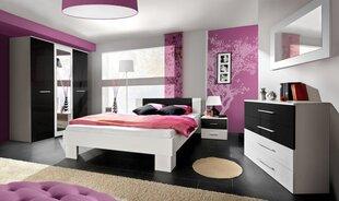Guļamistabas mēbeļu komplekts Vicky 140, balts/melns cena un informācija | Komplekti guļamistabai | 220.lv