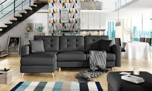 Universāls stūra dīvāns Asgard, melns cena un informācija | Dīvāni un krēsli | 220.lv
