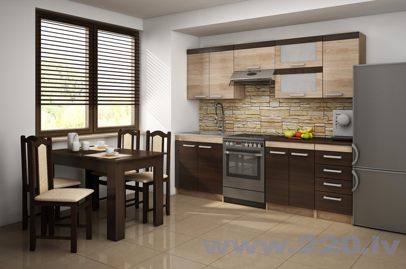 Virtuves skapis Milo S60/4SZ, ozols internetā