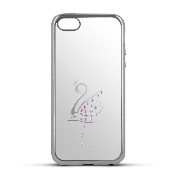 Aizsargvāciņš Beeyo Stardust Swan, piemērots Huawei P8 Lite 2017 / P9 Lite 2017 telefonam, sudrabains
