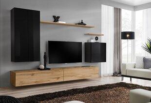 Sekcija Switch II, ozols/melna cena un informācija | Sekcijas | 220.lv