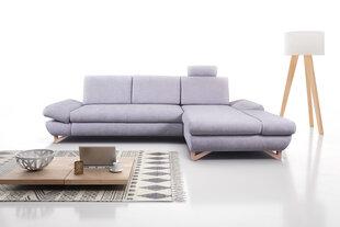 Mīksts stūra dīvāns Avesta, pelēks cena un informācija | Dīvāni un krēsli | 220.lv