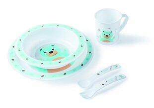 CANPOL plastmasas trauku un galda piederumu komplekts, 5 daļas 4/401, lācis