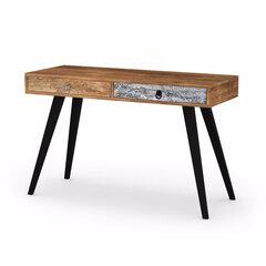 Письменный стол  Patchwork, коричневый цена и информация | Компьютерные столы | 220.lv
