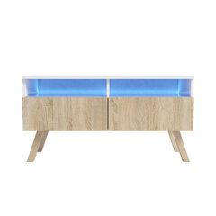 RTV стол Siena Wood, белый/дубовый цена и информация | Столики под телевизоры | 220.lv