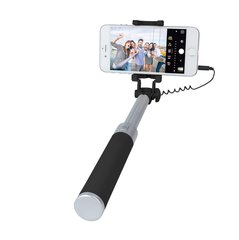Pašbilžu nūja Forever JMP-200 Mini Selfie Stick with Remote Button and 3.5 mm Cable Black
