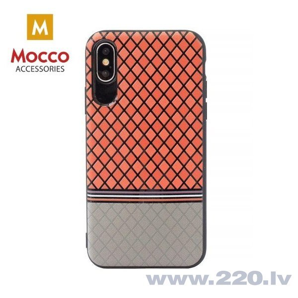 Aizsargmaciņš Mocco Trendy Grid And Stripes Silicone Back Case Samsung G950 Galaxy S8 Red (Pattern 2)