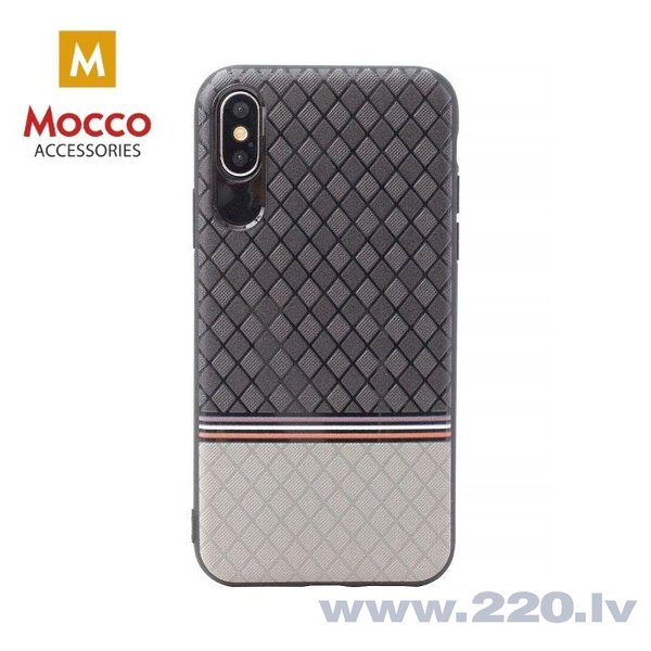 Aizsargmaciņš Mocco Trendy Grid And Stripes Silicone Back Case Samsung G950 Galaxy S8 Grey (Pattern 2)