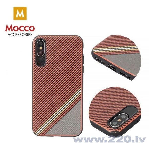Aizsargmaciņš Mocco Trendy Grid And Stripes Silicone Back Case Samsung G955 Galaxy S8 Plus Red (Pattern 1) internetā