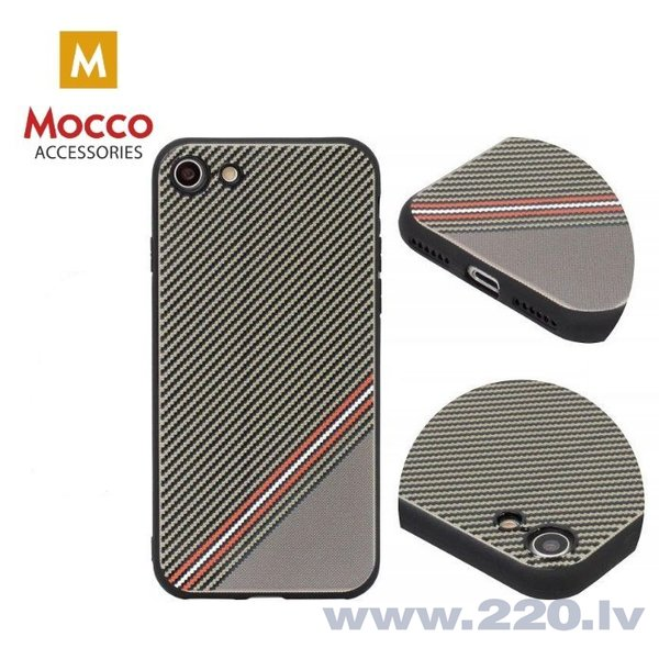 Aizsargmaciņš Mocco Trendy Grid And Stripes Silicone Back Case Samsung G950 Galaxy S8 Brown (Pattern 1) internetā