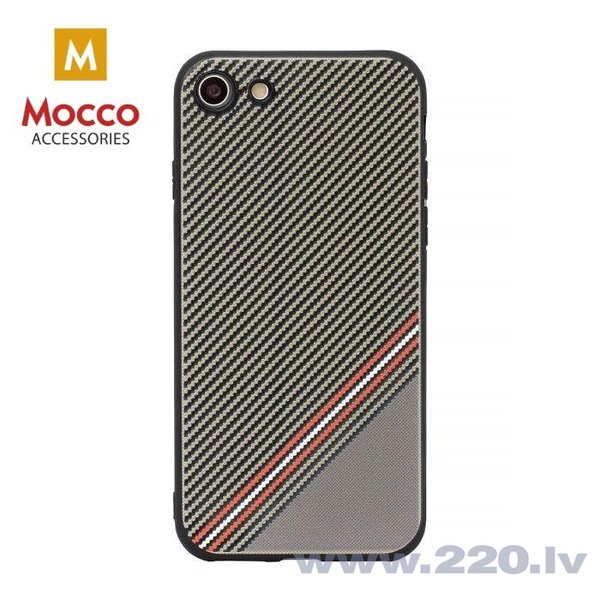 Aizsargmaciņš Mocco Trendy Grid And Stripes Silicone Back Case Samsung G955 Galaxy S8 Plus Brown (Pattern 1)