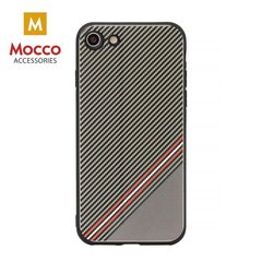 Aizsargmaciņš Mocco Trendy Grid And Stripes Silicone Back Case Apple iPhone 7 Plus / 8 Plus Brown (Pattern 1)