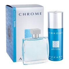Komplekts Azzaro Chrome: EDT 100 ml + dezodorants 150 ml