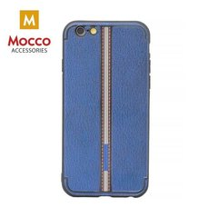 Aizsargmaciņš Mocco Trendy Grid And Stripes Silicone Back Case Apple iPhone X Blue (Pattern 3)
