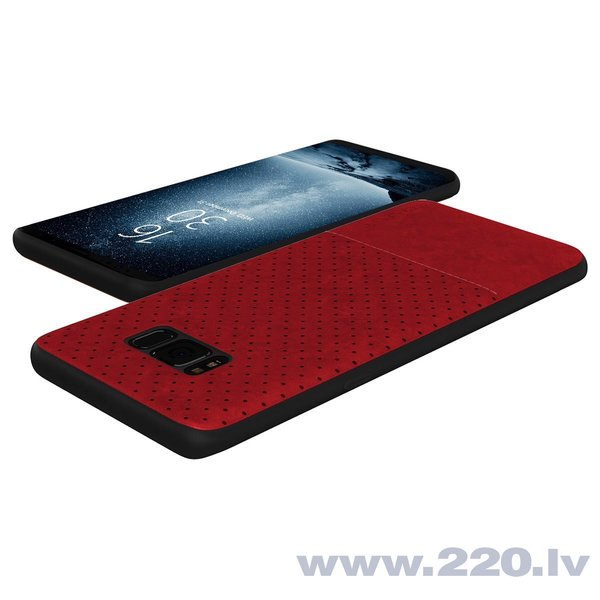 Aizsargmaciņš Qult Luxury Drop Back Case Silicone Case Samsung Galaxy Note 8 Red atsauksme