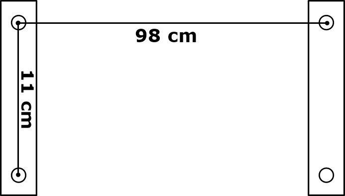 Jumts virs durvīm MERA 100x140 cm