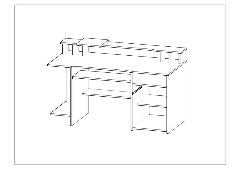 Письменный стол P4, цвет дуба цена