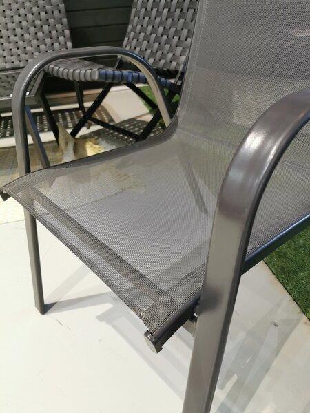 Āra dārza krēsls Cannes, pelēks internetā