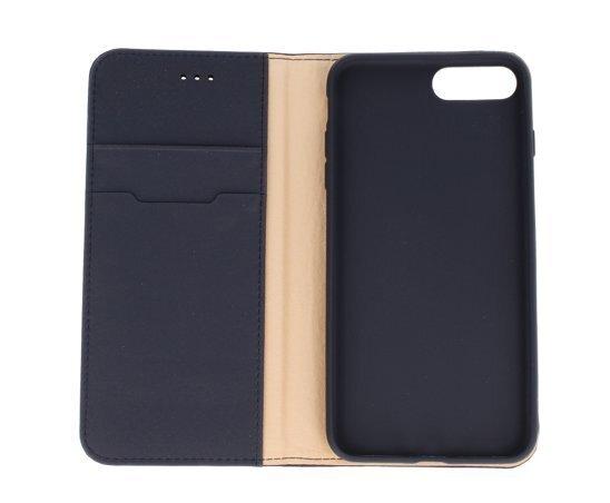Atverams ādas maciņš Dux Ducis Wish Magnet Case, piemērots Apple iPhone X telefonam, zils internetā