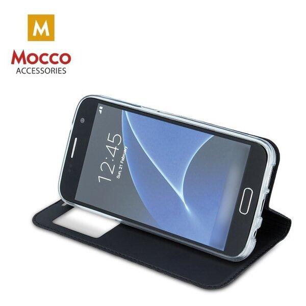 Atverams maciņš Mocco Smart Look Magnet, piemērots Sony Xperia XA2 telefonam, melns atsauksme