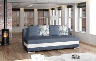 Dīvāns Calia, tumši zils un balts cena un informācija | Dīvāni un krēsli | 220.lv