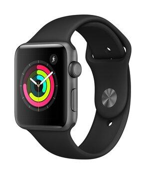 Apple Watch S3,GPS, 42mm, Black/Space Gray Aluminum cena un informācija | Viedpulksteņi (smartwatch) | 220.lv
