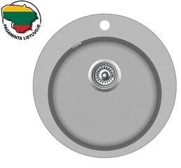 Mākslīgā granīta virtuves izlietne Aquasanita Clarus SR100, 220 Argent