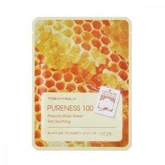 Маска для лица с экстрактом прополиса Tonymoly Pureness 100 Propolis Mask Sheet Skin Soothing 21 мл
